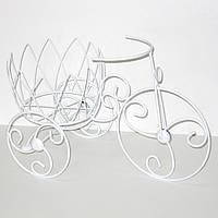 Кованная подставка под цветы велосипед, 47*29*20 см