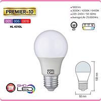 """LED лампа """"PREMIER-10"""" 10W 6400К, 4200К, 3000К A60 E27"""