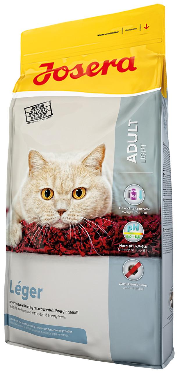 Josera LEGER 10 кг - корм для стерилизованных, пожилых и кошек с избыточным весом