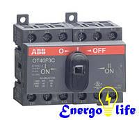 Рубильник перекидной ABB OT40F3C 40A 1-0-2 (1SCA104913R1001), для включения/отключения нагрузки