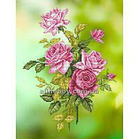 Схема для вышивания бисером Ветка чайной розы БИС3-25 (А3)