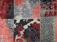 Мебельная ткань велюр  CASTEL  RED (производитель  Bibtex)