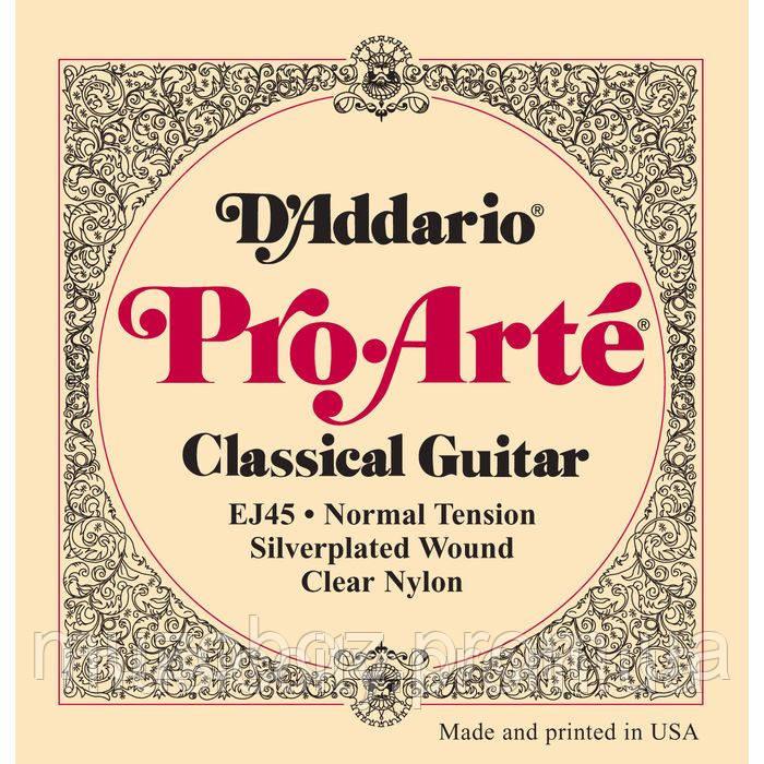 D'Addario EJ45 комплект струн для классической гитары