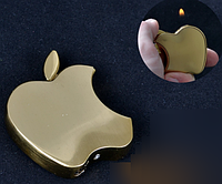 """Зажигалка карманная """"Apple"""" №3813 Gold SO"""