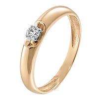 Золотое кольцо Элина с бриллиантом 17.5 000004792