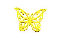 Бабочки 6см желтые, 12шт