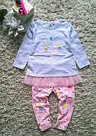 Детский летний костюм  на девочку  лосины и туника
