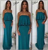 Женское модное  платье в пол МСХ 239