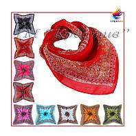 Шифоновые шейные  платки с Вашим логотипом (под заказ от 100 шт)