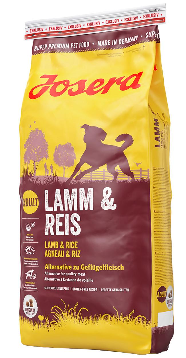 Josera LAMB & RICE 15 кг - корм для собак (ягненок/рис) (Акция октября)