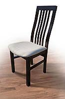 Стул деревянный буковый с мягким сиденьем Премьер, темный орех, ткань Portland 21