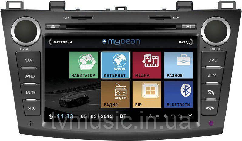 Штатная автомагнитола MyDean 1034 nv (Mazda 3)