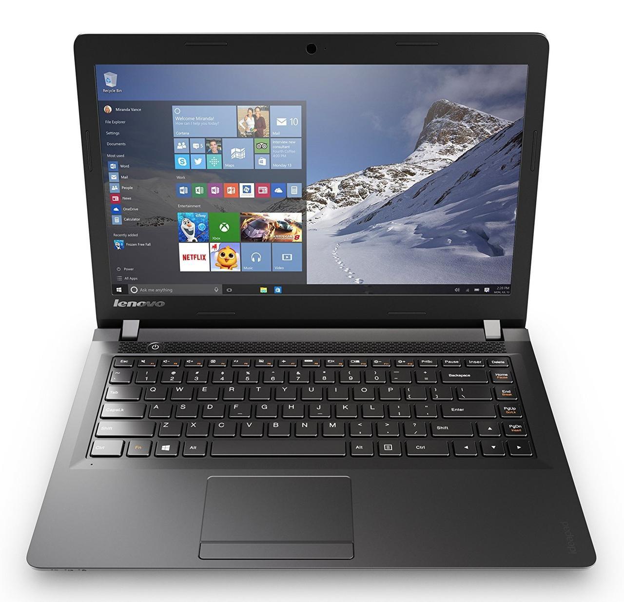 Ноутбук бу Lenovo IdeaPad 100/ Intel Pentium 3825U ( 1.90 GHz)/4Gb/1Tb/nVidia GeForce 920M с 1 Gb, фото 1