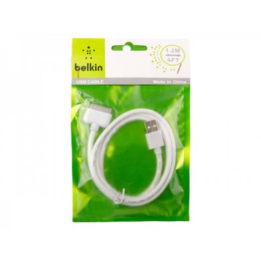 USB кабель cable Belkin iPhone 4/4s (тех.пакет)
