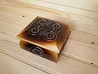 Шкатулка деревянная 11х11 см украшенная бисером