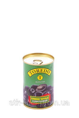 """Маслины черные с косточкой 280г """"Торедо"""""""
