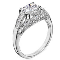 Кольцо из белого золота с бриллиантами Замок волшебства 000006996 17 размера