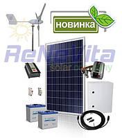 Комплект оборудования гибридной ветро-солнечной системы для дома