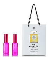 Парфюм 2 по 20 мл в подарочной упаковке Chanel № 5 для женщин