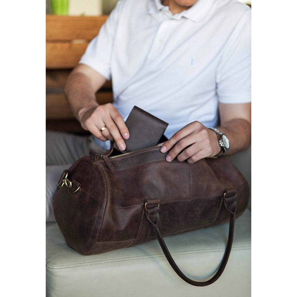 3d299c55a871 Кожаная спортивная дорожная сумка Harper - Интернет-магазин