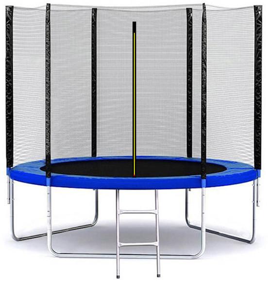 Батут SkyJump 312 см с защитной сеткой и лестницей спортивный игровой (з сіткою та драбиною ігровий)