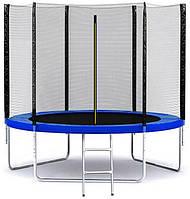 Батут SkyJump 312 см с защитной сеткой и лестницей спортивный игровой (з сіткою та драбиною ігровий), фото 1