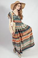 Платье женское летнее цветное яркое длинное нарядное Markshara