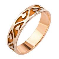 Обручальное кольцо Волшебная вязь из красного золота 19 000006802