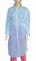 Халат для посетителя на кнопках с рукавами нестер. XL