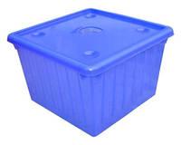 Ящик для игрушек с крышкой (голубой) арт. 122043