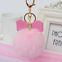 Оригинальный брелок, мех искусственный, цвет нежно-розовый
