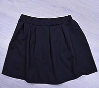 """Юбка школьная """"Оригинал"""" для девочек. 116-128 см. Черная. Школьная форма оптом"""