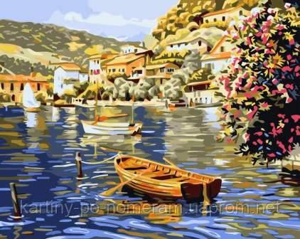 картина по номерам лодка в гавани