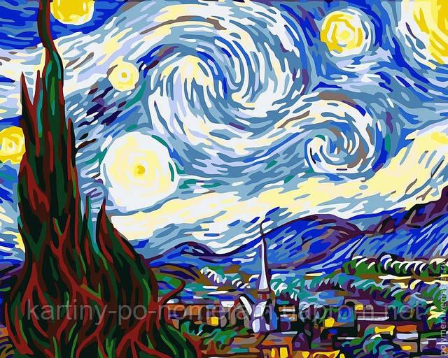 картина по номерам звездная ночь
