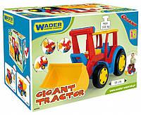 Большой игрушечный трактор Гигант с ковшом Wader 66000