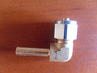 Штуцер соединительный угловой D6 для термопластиковой трубки