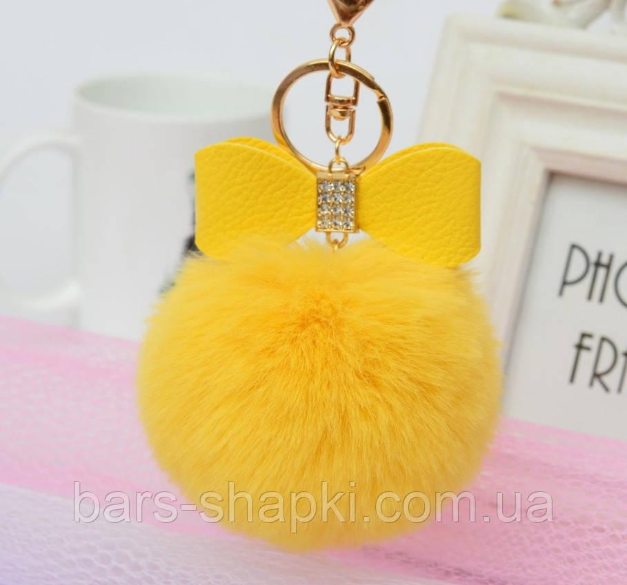 Оригинальный брелок, мех искусственный, цвет жёлтый