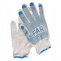 Рабочие перчатки FAR с ПВХ точкой