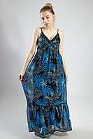Женское платье - сарафан в пол легкий длинный цветной яркий летний Mela Loves London