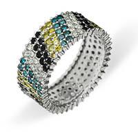 Золотое кольцо с бриллиантами Mosaic 000011715 17 размера