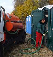 Обслуживание туалетов. Откачка мобильных кабин. Выкачка дворового туалета Киев.