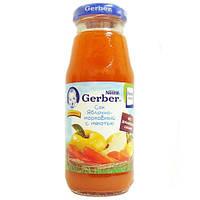 Сок Яблоко / морковь с 6 месяцев 175 мл Gerber 1327110