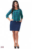 Платье Детройт (54 размер, бирюза) ТМ «PEONY»