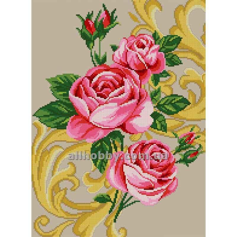Схема для вышивания бисером Розы БИС3-101 (А3)