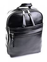 Рюкзак женский - сумка кожаная 617G Black