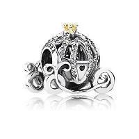 Шарм Pandora Карета (коронка из золота 585пр)