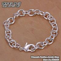 Солидный стильный дерзкий браслет  для мужчин - посеребрение