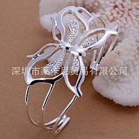 Изящный серебряный оригинальный серебряный браслет Стрекоза - серебро