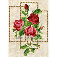 Схема для вышивания бисером Розы в рамке БИС4-102 (А4)