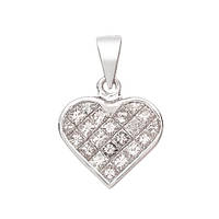 Золотой подвес в белом цвете с бриллиантами огранки принцесса Влюбленность 000014943
